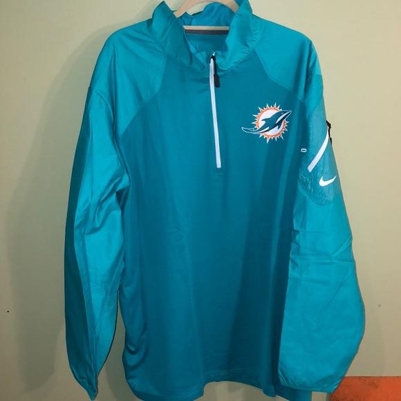 06517351 NWT Men's Nike Miami Dolphins On Field Jacket NWT
